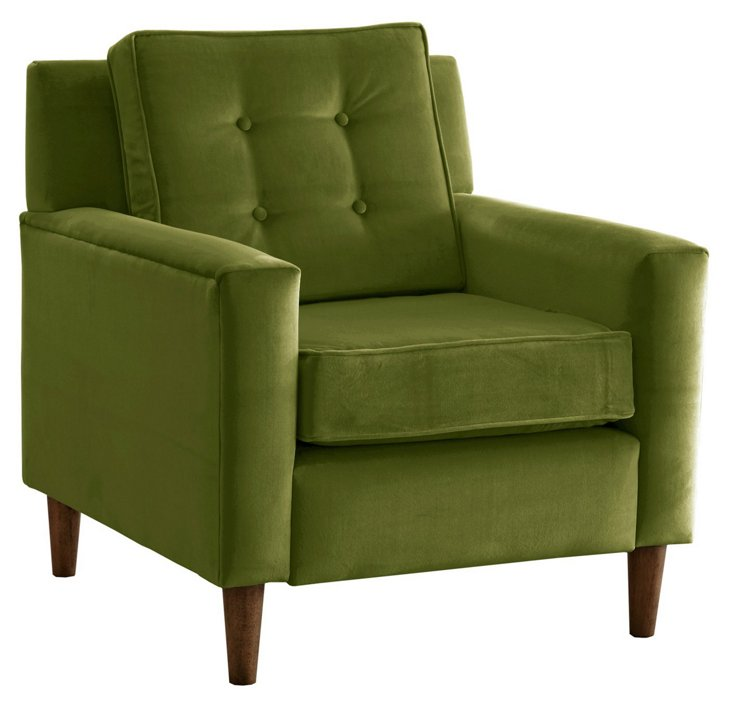 Winston Chair, Grass Velvet