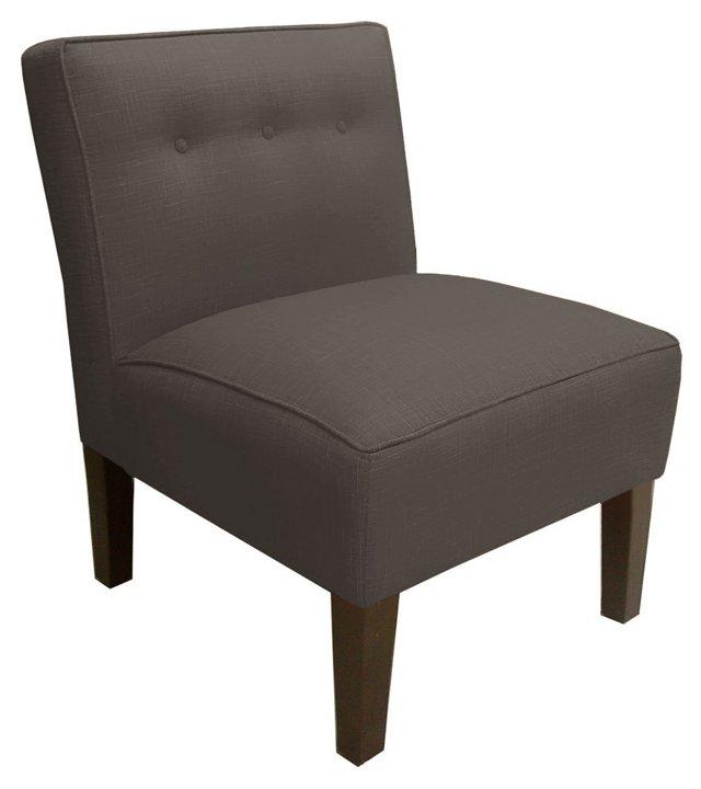 Grant Armless Chair, Navy
