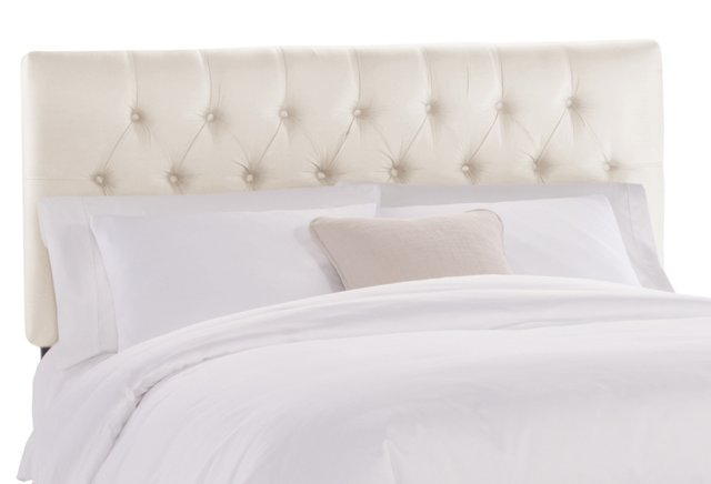 Thea Tufted Headboard, Parchment