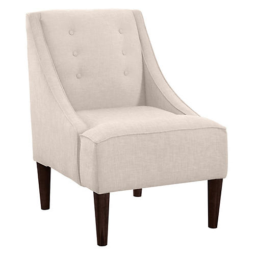 McCarthy Swoop-Arm Chair, Talc