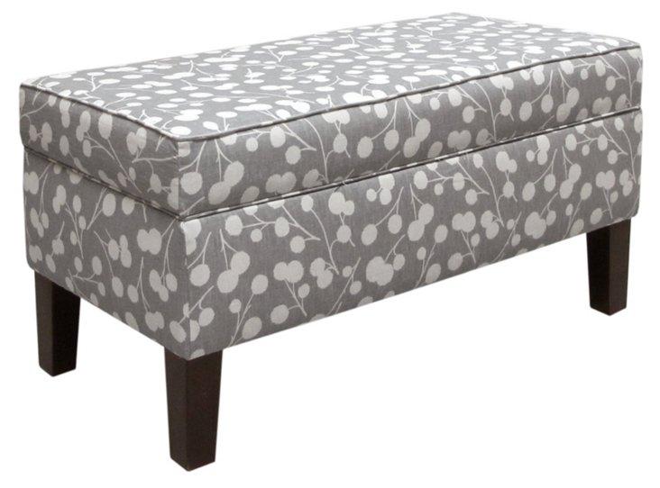Breene Storage Bench, Gray/White