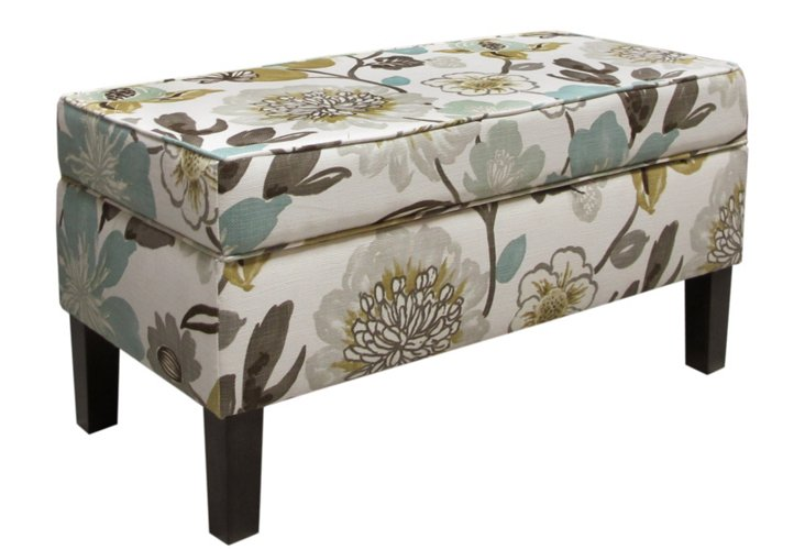 Breene Storage Bench, Pearl