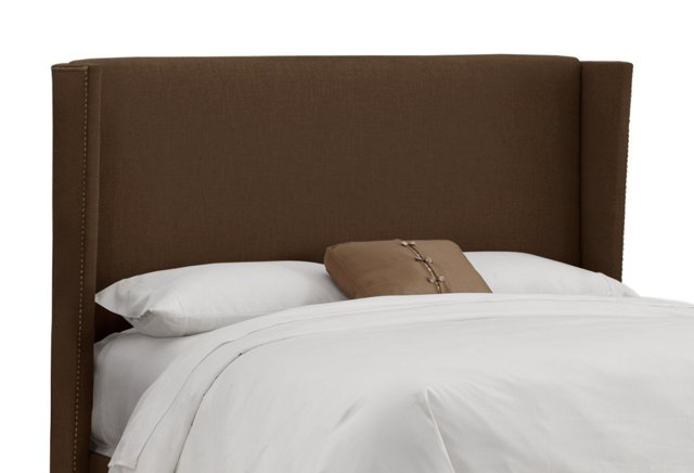 Darcy Wingback Headboard, Chocolate