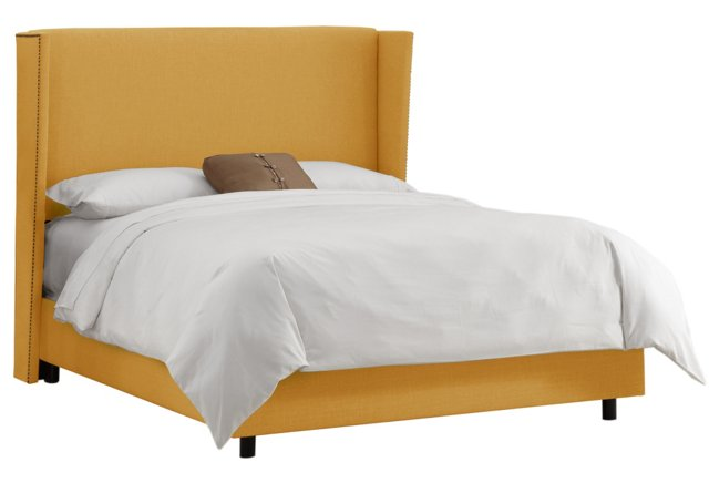 Darcy Wingback Bed, French Yellow