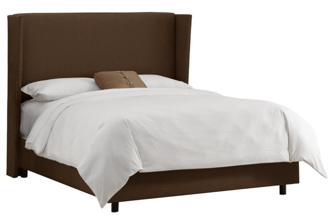 Darcy Wingback Bed, Chocolate