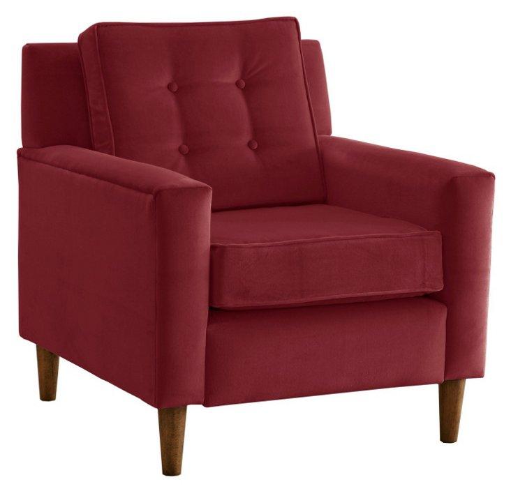 Winston Chair, Berry Velvet