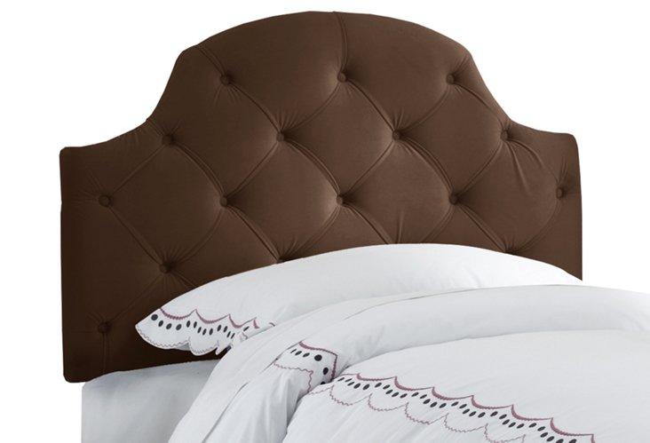 Twin Tessa Arched Headboard, Chocolate