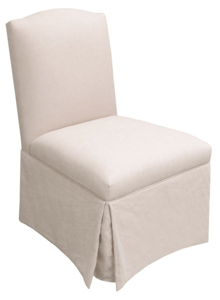 Geiger Skirted Chair, Talc