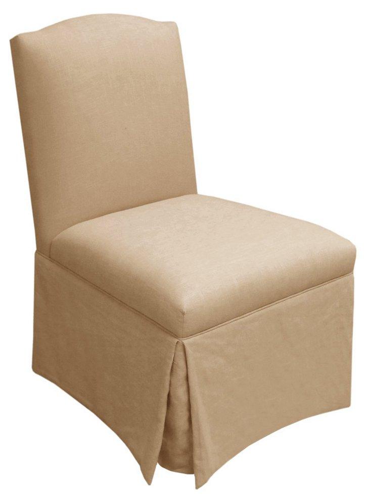 Geiger Armless Chair, Linen Sandstone