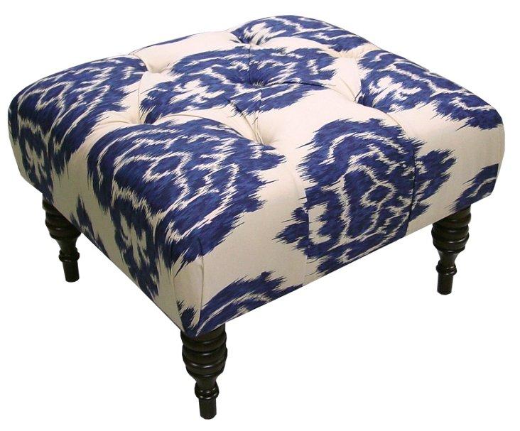 Boyd Tufted Ottoman, Sapphire