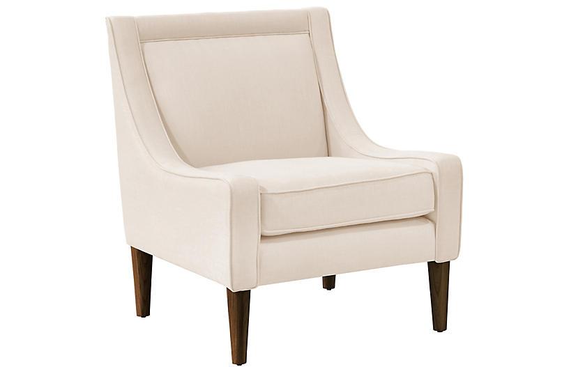 Scarlett Accent Chair, Talc Linen