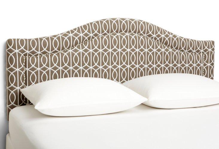 Cocoa/White Anne Arched Headboard
