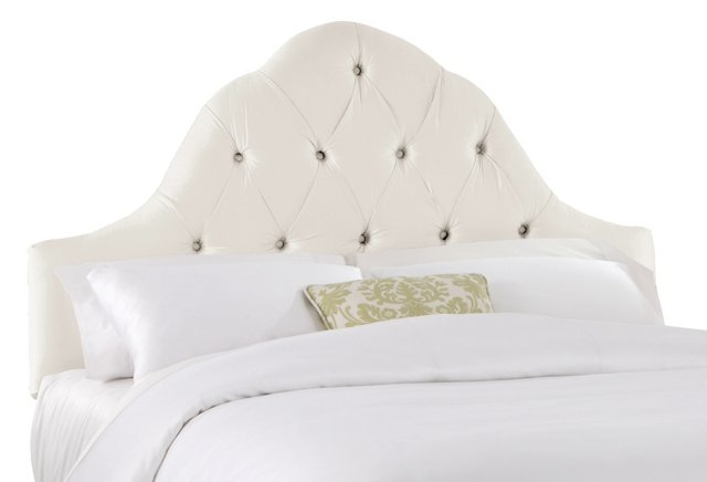 Lulu Tufted Headboard, Pearl