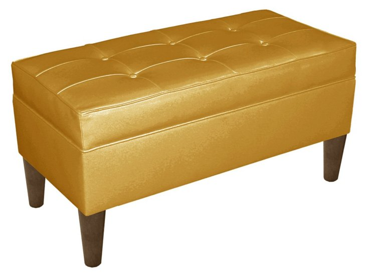 Oliver Storage Bench, Gold
