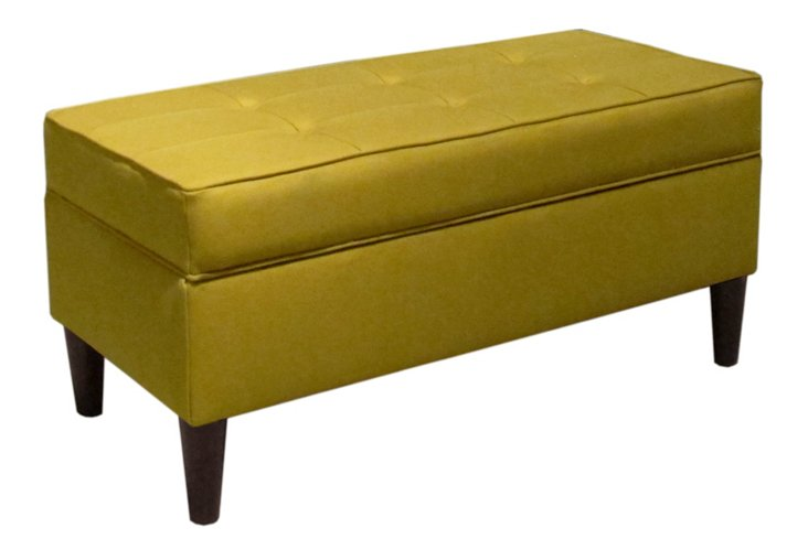 Oliver Tufted Bench, Yellow