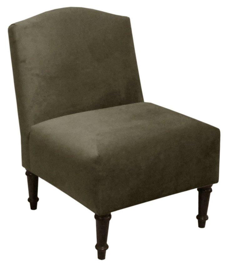 Clark Chair, Pewter Velvet