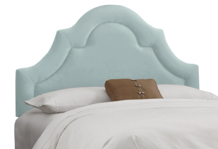 Marin Upholstered Headboard, Light Blue