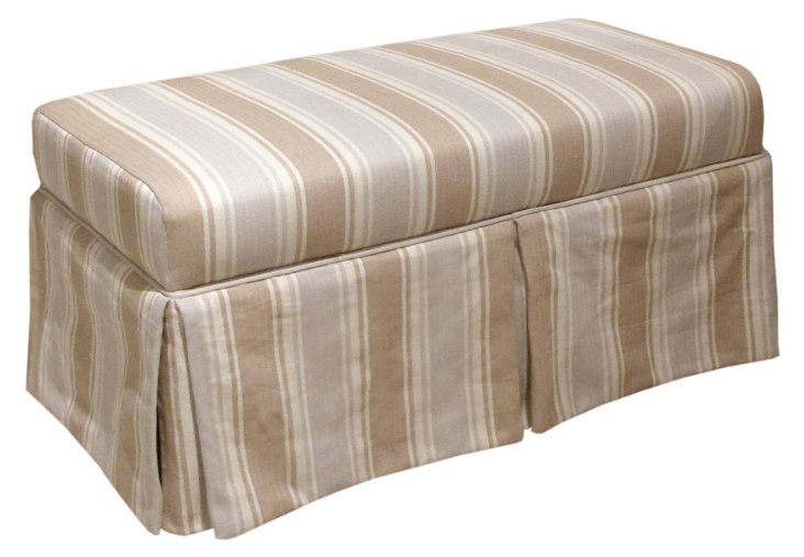 Hayworth Storage Bench, Gray/Tan