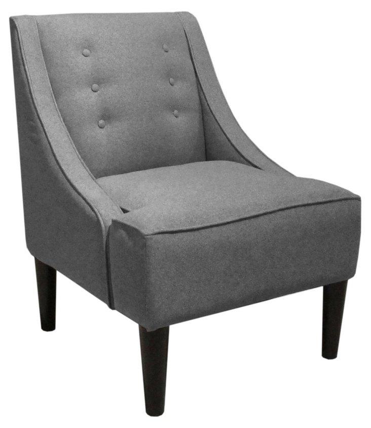 McCarthy Swoop-Arm Chair, Gray