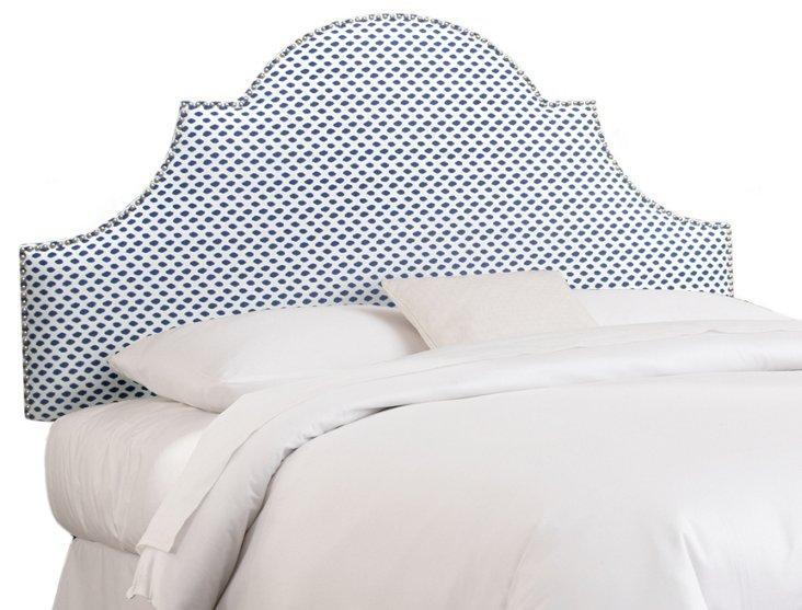 Hedren Headboard, Blue/White