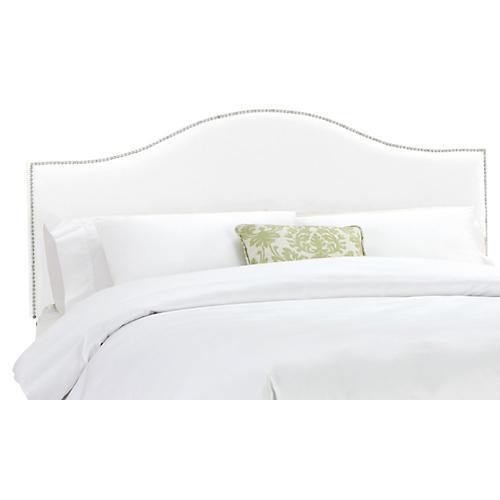Tallman Headboard, White Velvet