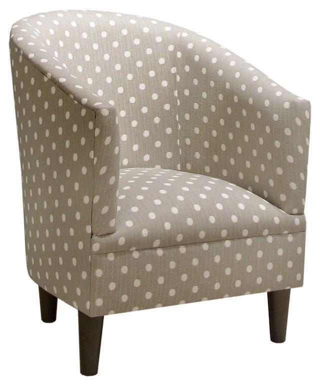Ashlee Tub Chair, Gray/White