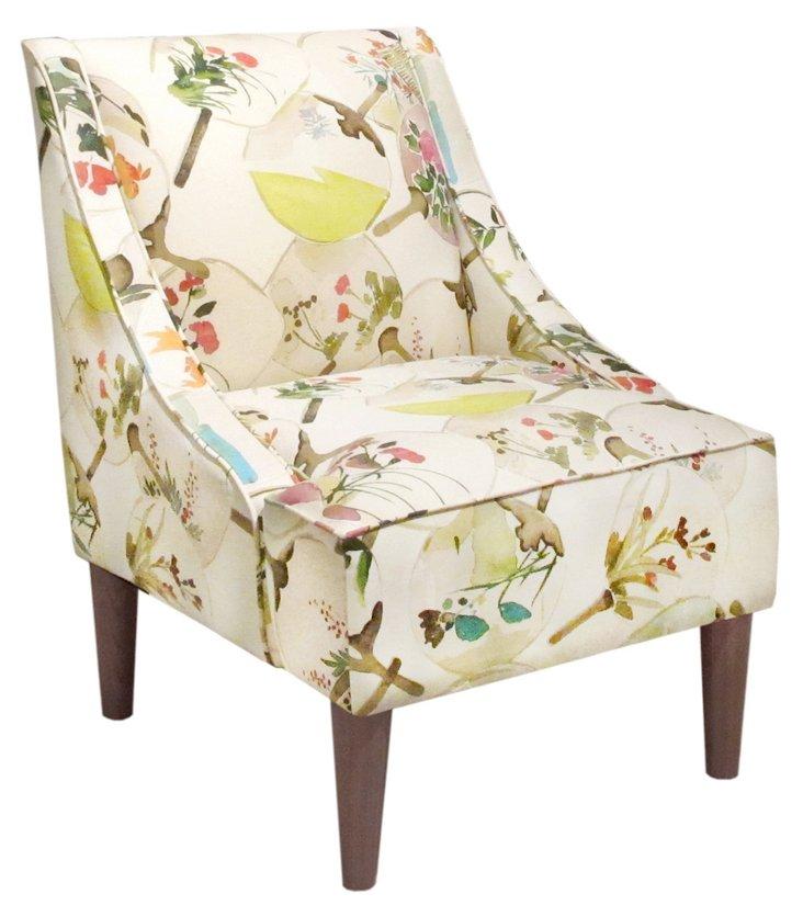 Quinn Swoop-Arm Chair, Mango