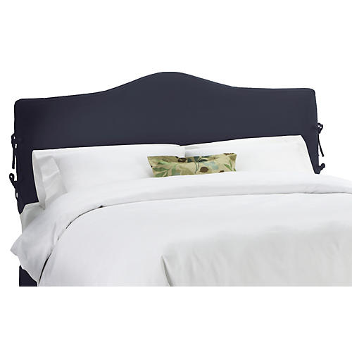 Eloise Slipcover Headboard, Navy Twill