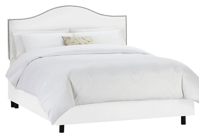 Tallman Arched Bed, White