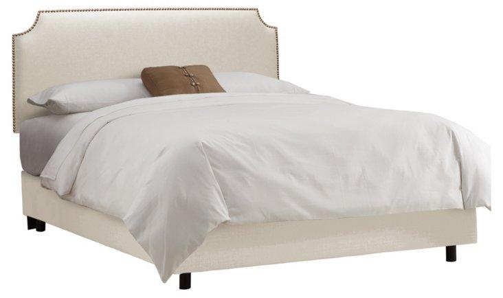 Ellis Nailhead Bed, Talc