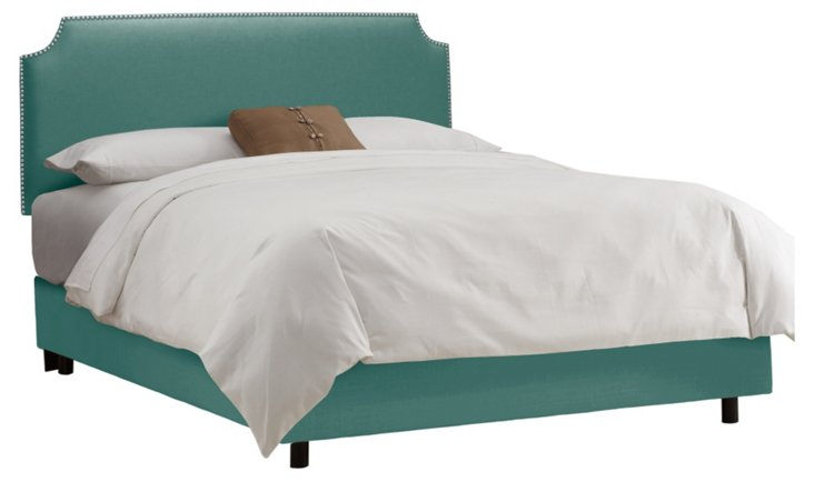 Ellis Nailhead Bed, Seafoam