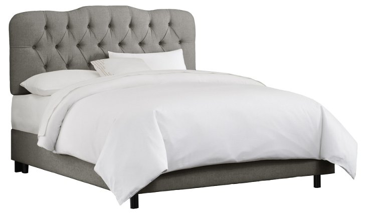 Davidson Tufted Bed, Gray
