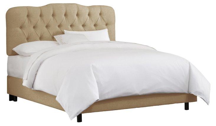 Davidson Tufted Bed, Sandstone