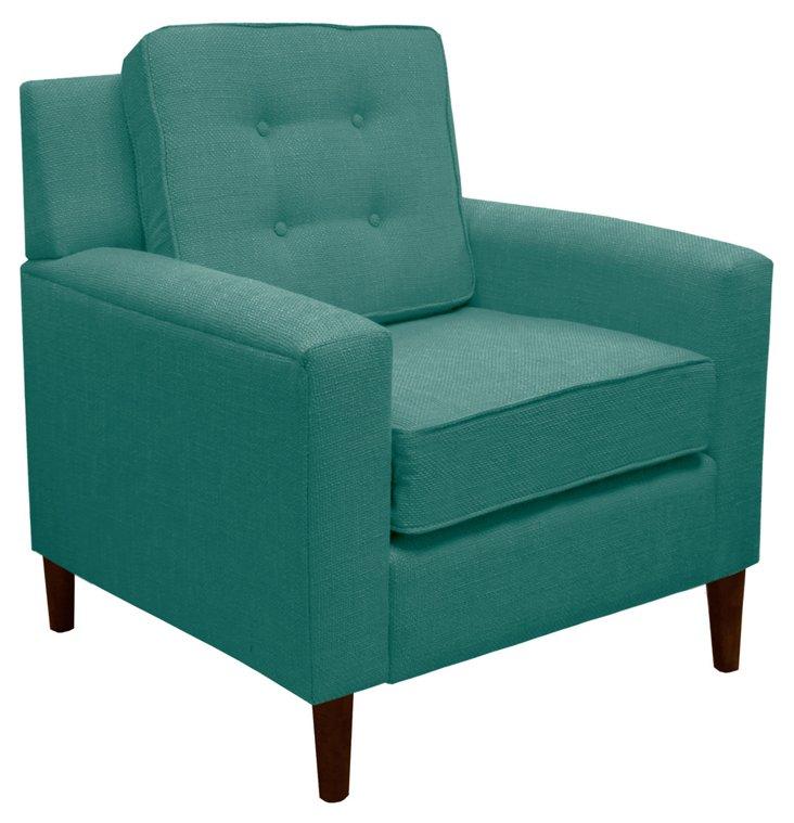 Winston Cotton Armchair, Teal