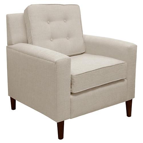 Winston Club Chair, Talc