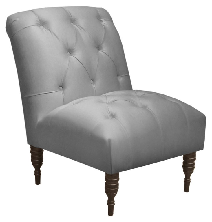 Eloise Armless Chair, Silver
