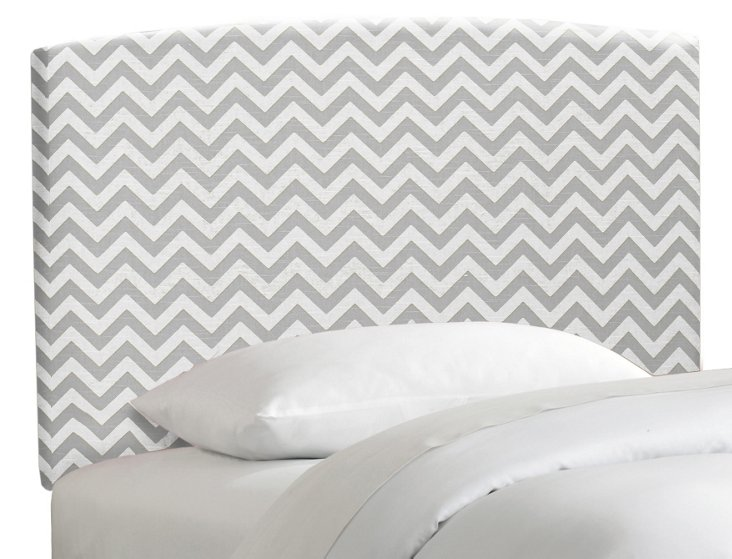 Gerber Chevron Headboard, Gray