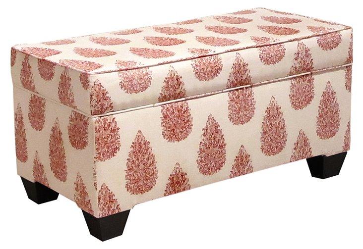 Arthur Storage Bench, Red/Cream
