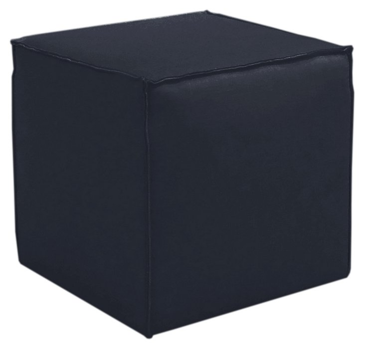 Astair French Seam Cube, Navy