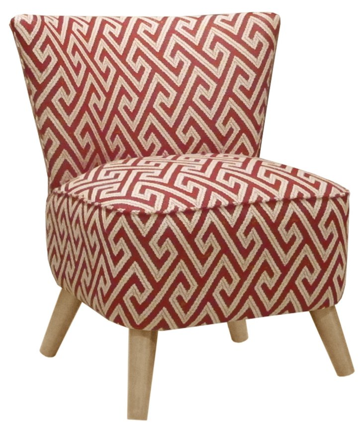 Barnes Modern Chair, Cream/Multi
