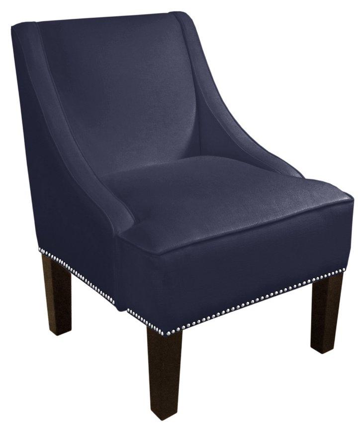 Fletcher Swoop-Arm Chair, Pink