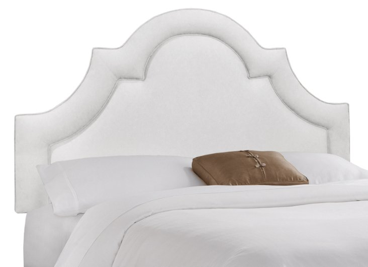 Kennedy Cotton Headboard, White