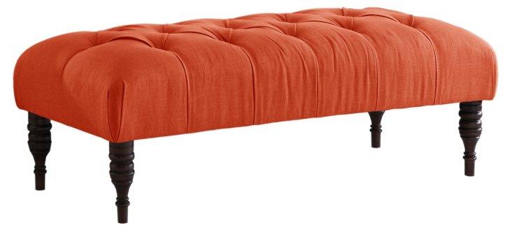 Stanton Tufted Bench, Orange