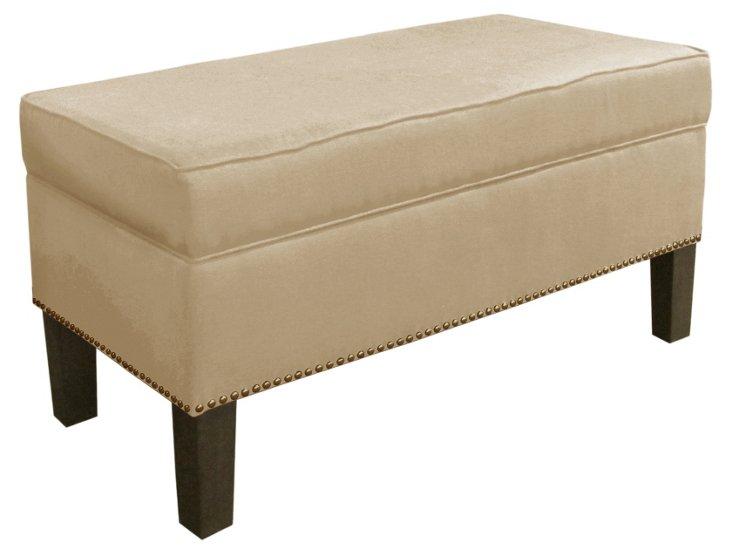 Dunne Storage Bench, Sand Linen