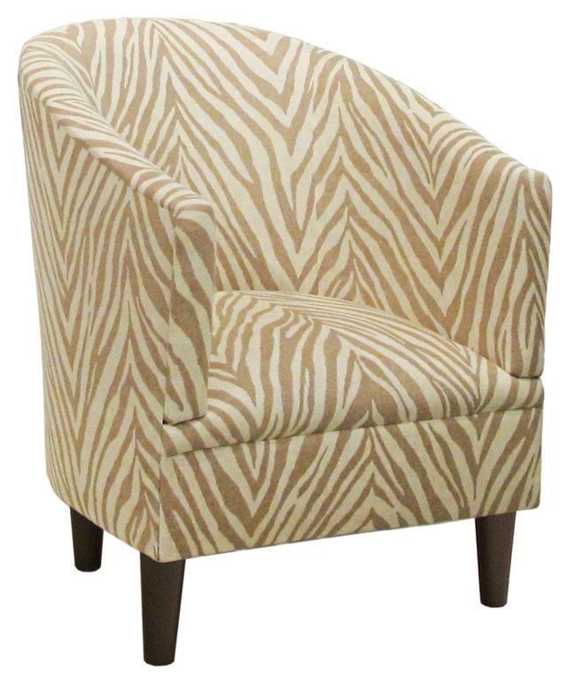 Ashlee Tub Chair, Cream/Taupe