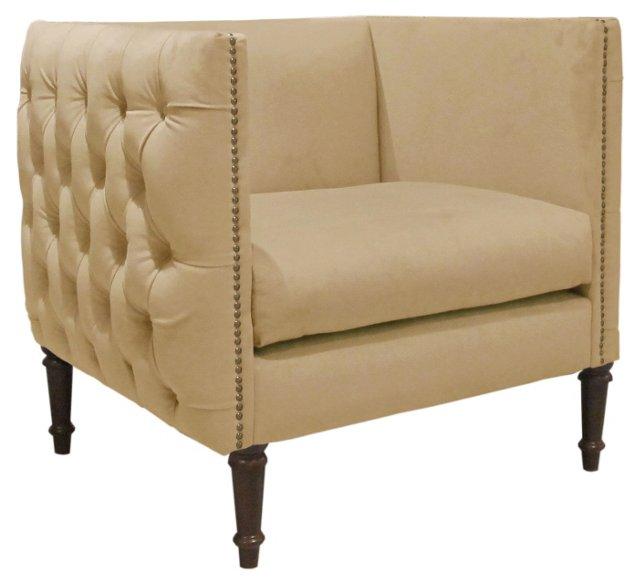 DNU, Aldridge Club Chair, Buckwheat