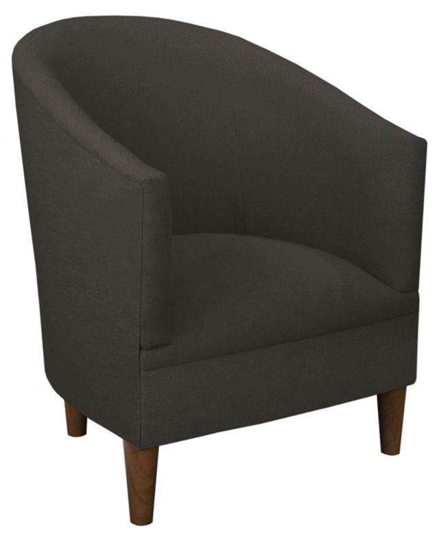 Ashlee Tub Chair, Linen Charcoal