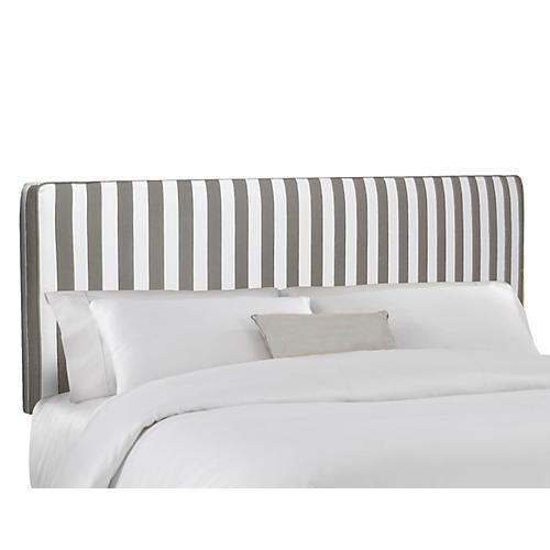 Macy Striped Headboard, Gray