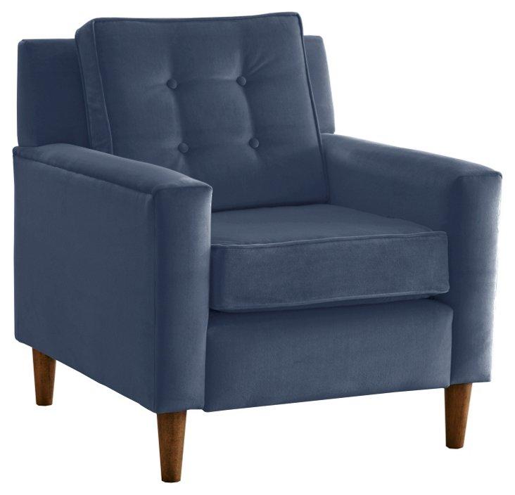 Winston Chair, Blue Velvet