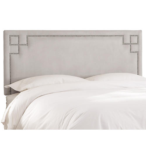Aiden Headboard, Dove Velvet